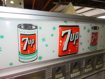 "7-Up Embossed Vending Machine Sign In Plastic 24""  X 6"""