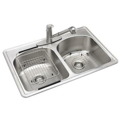 Glacier Bay All In One Drop Stainless Steel 33 3 Hole