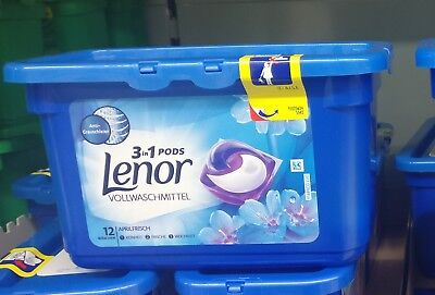 Lenor Universal or Color laundry detergent, 3-in-one-pods, 12 WL from Germany