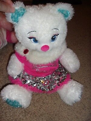 Build A Bear Frozen Elsa Plush White  Bear Stuffed Animal Princess shirt sequins