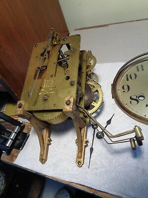 Antique-Waterbury-Westminster Chime-Clock Movement-Ca.1920-To Restore-#P900