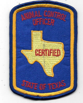 """Law Enforcement Patch Animal Control Texas Officer Police - Measures 3"""" X 4"""""""