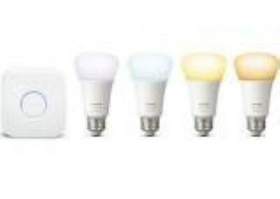 NEW-Philips Hue White Ambiance Smart Bulb Starter Kit (4 Bulbs) (FK2002652)