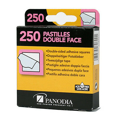 PANODIA SQUARES 250 Double Face Sided Adhesive Tape for Photo Picture  i