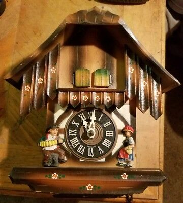 Vintage cuckoo clock nice one day musical from Germany