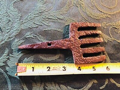 Antique Hand Forged Iron Fishing Gig / Spear Primitive Iron Hammered