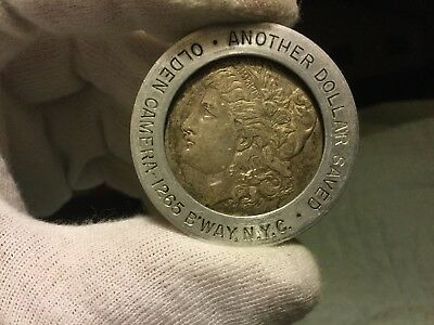 Morgan  Encased Silver Dollar ~ Olden Camera 1265 Broadway New York City