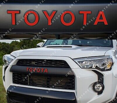Gloss Red TRD PRO Grill Vinyl Decals For 2015-2019 Toyota 4Runner New USA