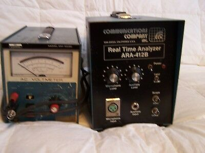 1 REAL TIME ANALYZER and 1 AC VOLTMETER. Power on only tested. Nice cond.