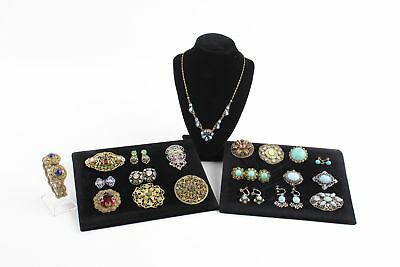 20 x Vintage CZECH FILIGREE & PEKING GLASS JEWELLERY inc. Necklaces, Brooches