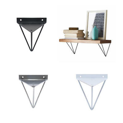 UK 2PCS Durable Hairpin Industrial Wall Shelf Support Bracket Metal Prism Mount