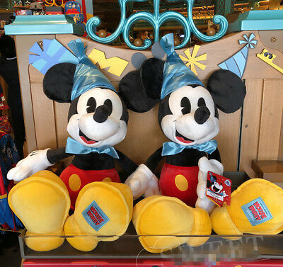 NWT 18 Disney Exclusive Mickey Mouse The 90th Years Party Plush Toy Disneyland