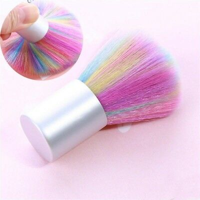 Soft Mix-color Nail Art Brush Acrylic UV Gel Powder Dust Remover Cleaning Tools