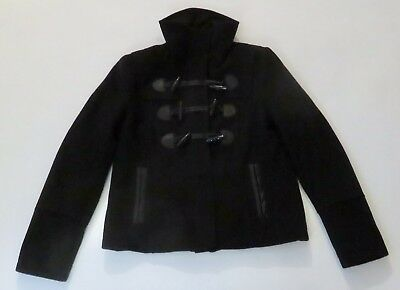 NEW Express Womens Black Wool Blend Horn Toggle Winter Coat Jacket Sz SP