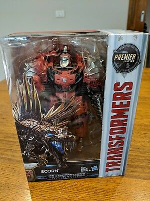 New Transformers 5 Scorn Voyager The Last Knight Action Figures Premier Edition