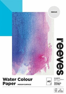 Reeves Water Colour Paper Pads 300gsm, 12 sheets - on Sale for Christmas