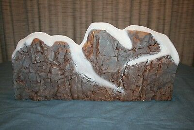 Dept 56 Village Or Train Set Background Mountain Snow Capped Rock Forms 5257-4
