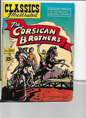 Classics Illustrated  #20  hrn 97  The Corsican Brothers