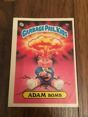 1985 Topps Garbage Pail Kids ADAM BOMB #8a ** Variation w/Checklist Back