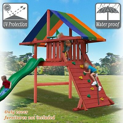 Replacement Canopy Cover Waterproof Backyard Wood Playset Swing Set
