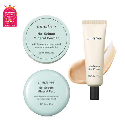 [INNISFREE] No-Sebum Mineral Powder / Pact / Blur Primer - Makeup Korea Beauty