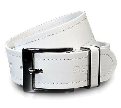CM3 Mens Real Genuine Leather White Belt 1.5 Wide S-XL Thick Long Casual Jeans