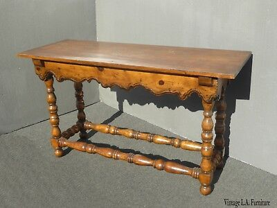 Vintage French Country Farmhouse Rustic Entry Side Table Sofa Table