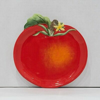 Fitz and Floyd Red Apple Plate Classic Country Chic Hand Crafted