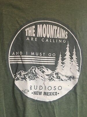 Rudioso New Mexico T Shirt  XL The Mountains Are Calling, I Must Go. Ski Resort