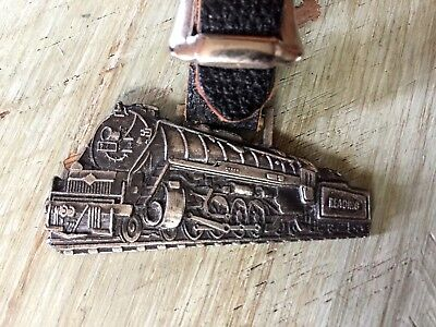 Vintage READING RAILROAD Pocket WATCH FOB w LEATHER Transportation PENNSYLVANIA