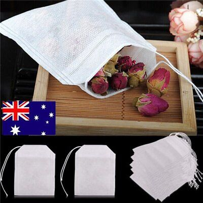 100/200x Empty Teabags String Heat Seal Filter Paper Herb Loose Tea Bags DT