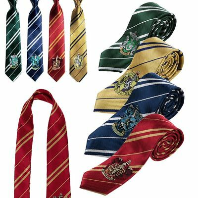 Harry Potter Gryffindor Slytherin Hufflepuff Ravenclaw Style Tie Cosplay Gift