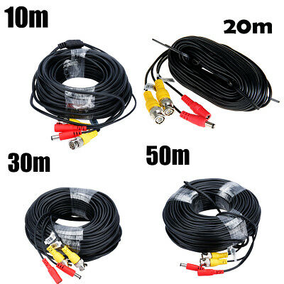 32-164Ft Security Camera CCTV DVR BNC Cable Power Video Wire Cord Surveillance