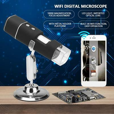 50-1000X 2MP 8 LED Digital Microscope Magnifier WIFI for Android iOS iPhone