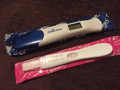 Lot 2 Clearblue+first Response Positive Tests+ 2 Tests Traditional Small Tests,