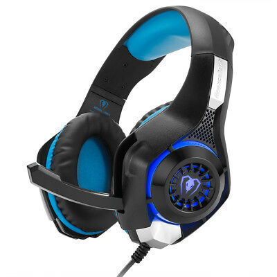 3.5mm V1 LED Mic Stereo Surround Gaming Headset For PC Laptop PS4 Xbox One 360