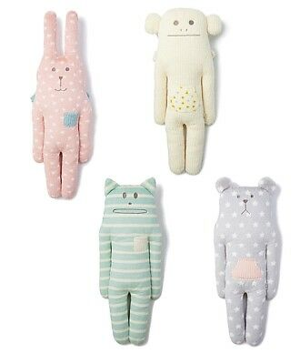 Soft CRAFTHOLIC Plush Pillow Hoodie Doll - Bunny, Bear, Cat, Monkey - Size M