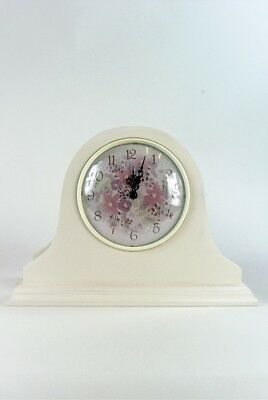 Clock Table Mantle Vintage style French Cream with floral face