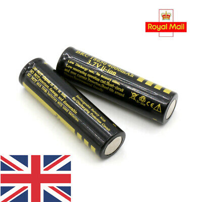 2Pcs Protected BRC 18650 Rechargeable Li-ion Battery 4000mAh 3.7V Lithium Cells