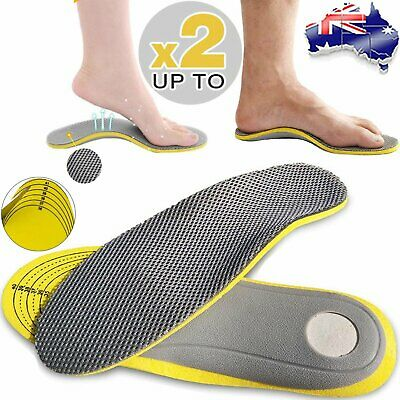 Orthotic Arch Support Shoe Insoles Pads Pain Relief Flat Foot Hard Men Women MN