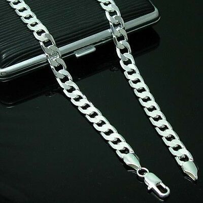Wholesale 4MM 925sterling solid silver 16inch -30 inch Men Women Chain Necklace