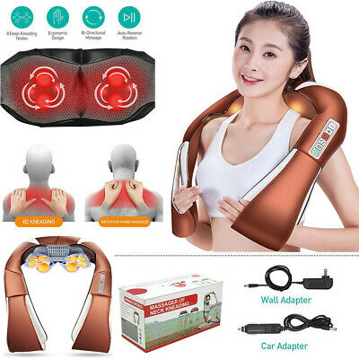Shiatsu Kneading Electric Massager Shawl For Neck/Shoulder/Back/Body with Heat