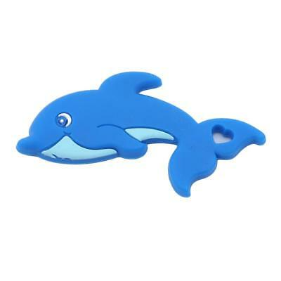Silicone Blue Dolphin Molar Stick Tooth Trainer Food Grade Teether Molar T