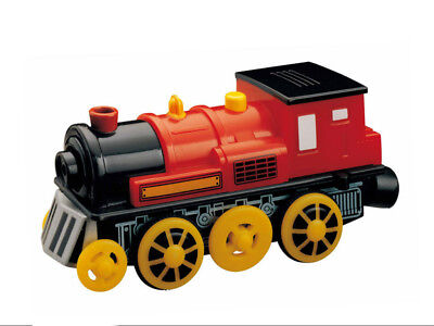 Motorised RED ENGINE has Train Sounds & Light - for Wooden Railway Track Sets