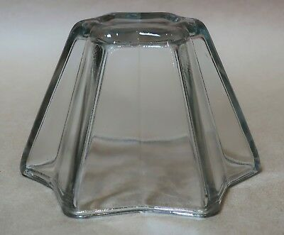 Beautiful Vintage Star Shaped Pressed Glass Jelly Mould