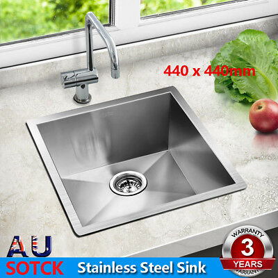 Cefito 440 x 440mm Stainless Steel Kitchen Sink Under/Top Mount Laundry