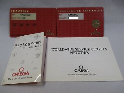 OMEGA CONSTELLATION 12023000 Automatic Chronometer WATCH Certificate Pictogram++