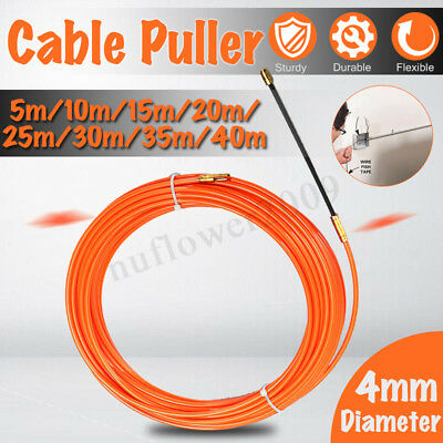 4MM Flexible Electrician Cable Push Puller Rodder Conduit Nylon Fish Tape Wire