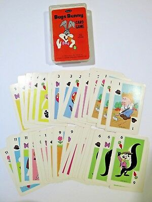 1966 Bugs Bunny Children's Card Game - Whitman - Complete Includes Case