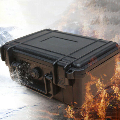 Durable Waterproof Hard Plastic Case Bag Tool Storage Box Organizer W/ Sponge